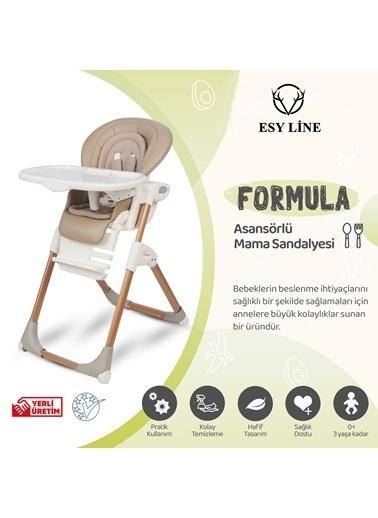 ESY LİNE Esy Line Katlanır Mama Sandalyesi Gold  Altın